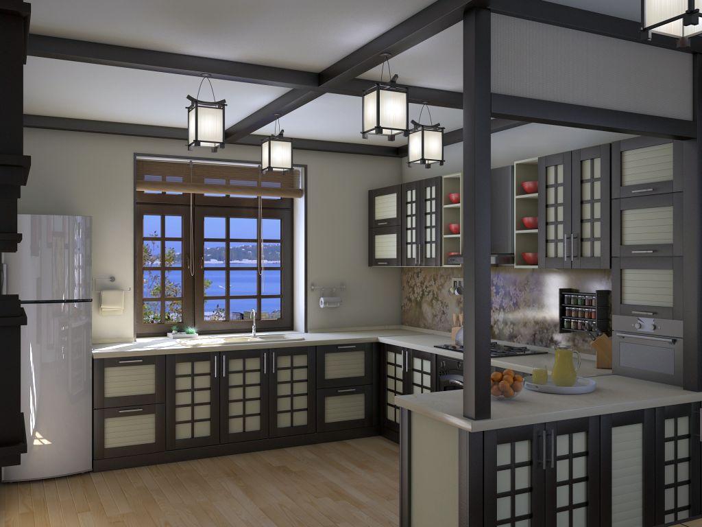 armoires de cuisine style japonais r nover sa cuisine. Black Bedroom Furniture Sets. Home Design Ideas