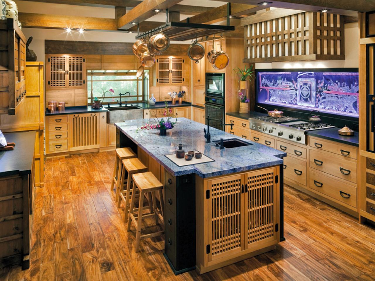 armoires de cuisine style japonais - Rénover sa cuisine